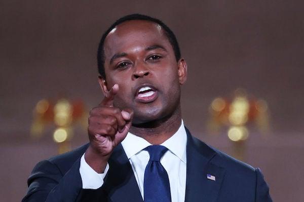 8月25日,肯塔基州總檢察長丹尼爾·卡梅倫(Daniel Cameron)在華府舉行的共和黨全國代表大會上發表講話。(Chip Somodevilla/Getty Images)