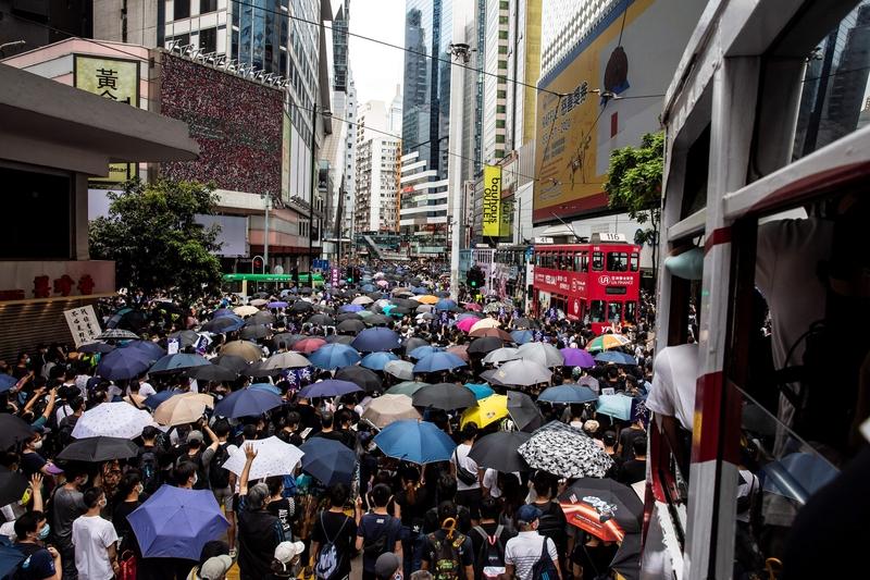 組圖:反國安法 逾萬港人遊行守護香港
