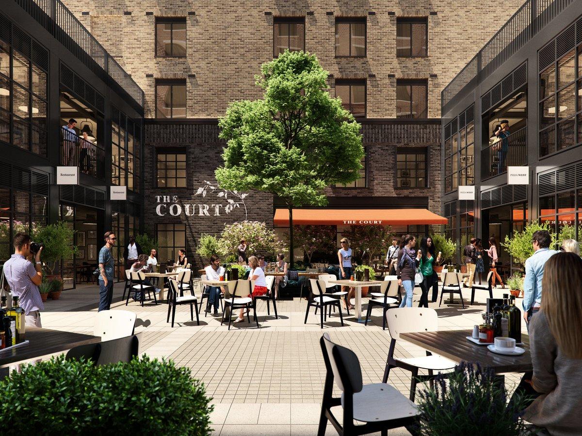 倫敦金絲雀碼頭的新社區Wood Wharf的8 Harbord Square公寓外景示意圖。(Canary Wharf Group)