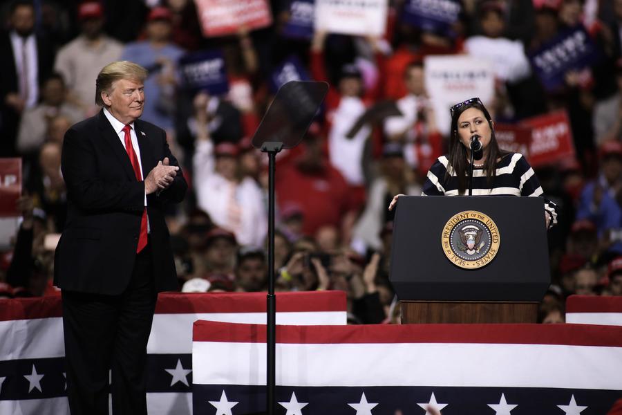 特朗普發聲明 支持前白宮發言人競選阿肯色州長
