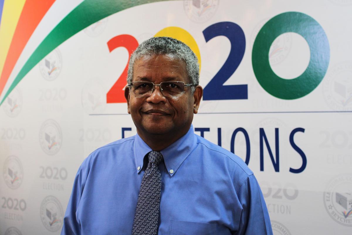圖為塞舌爾新當選總統韋維爾‧拉姆卡拉旺(Wavel Ramkalawan)。(Rassin VANNIER/AFP)