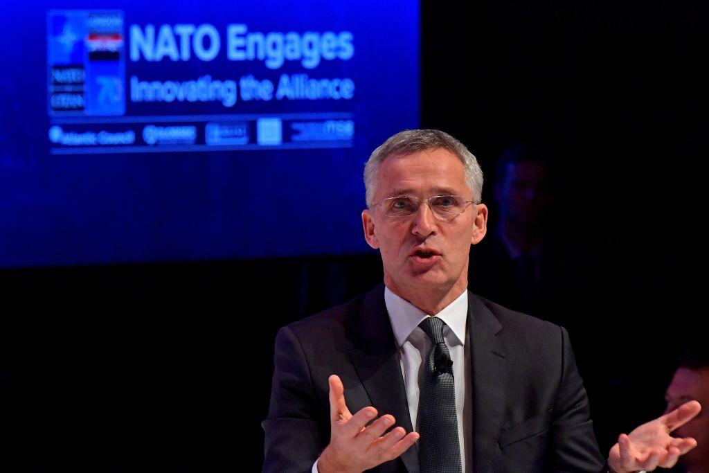 2019年12月3日,北約秘書長延斯·斯托爾滕貝格(Jens Stoltenberg)在倫敦舉行的「北約動員大會」活動上說,這是北約首次把中共威脅列入議程。(TOBIAS SCHWARZ/AFP via Getty Images)