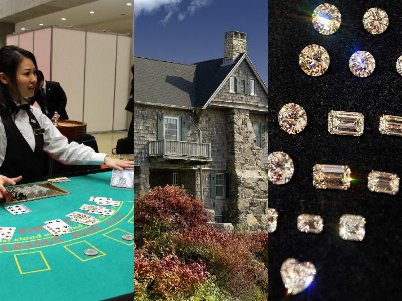 洗錢的方式有多種,包括賭場、房地產、珠寶及貿易等等。(大紀元合成)
