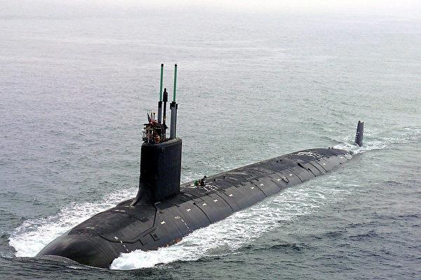 澳洲計劃向美、英租用潛艦,應對中共軍事威脅。圖為美軍維珍尼亞級潛艇。(維基百科公有領域)