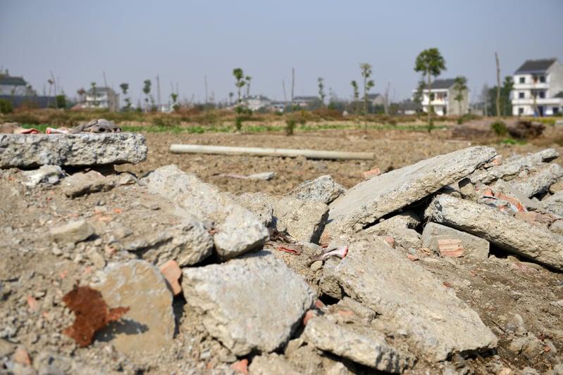 大陸今年前兩個月居住用地成交面積下跌近兩成。(AFP)