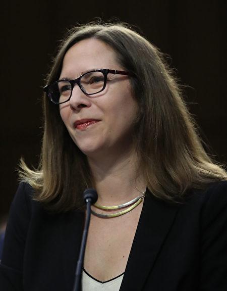 白宮國安會中國事務資深主任羅拉・羅森伯格(Laura Rosenberger),資料照。(Mark Wilson/Getty Images)