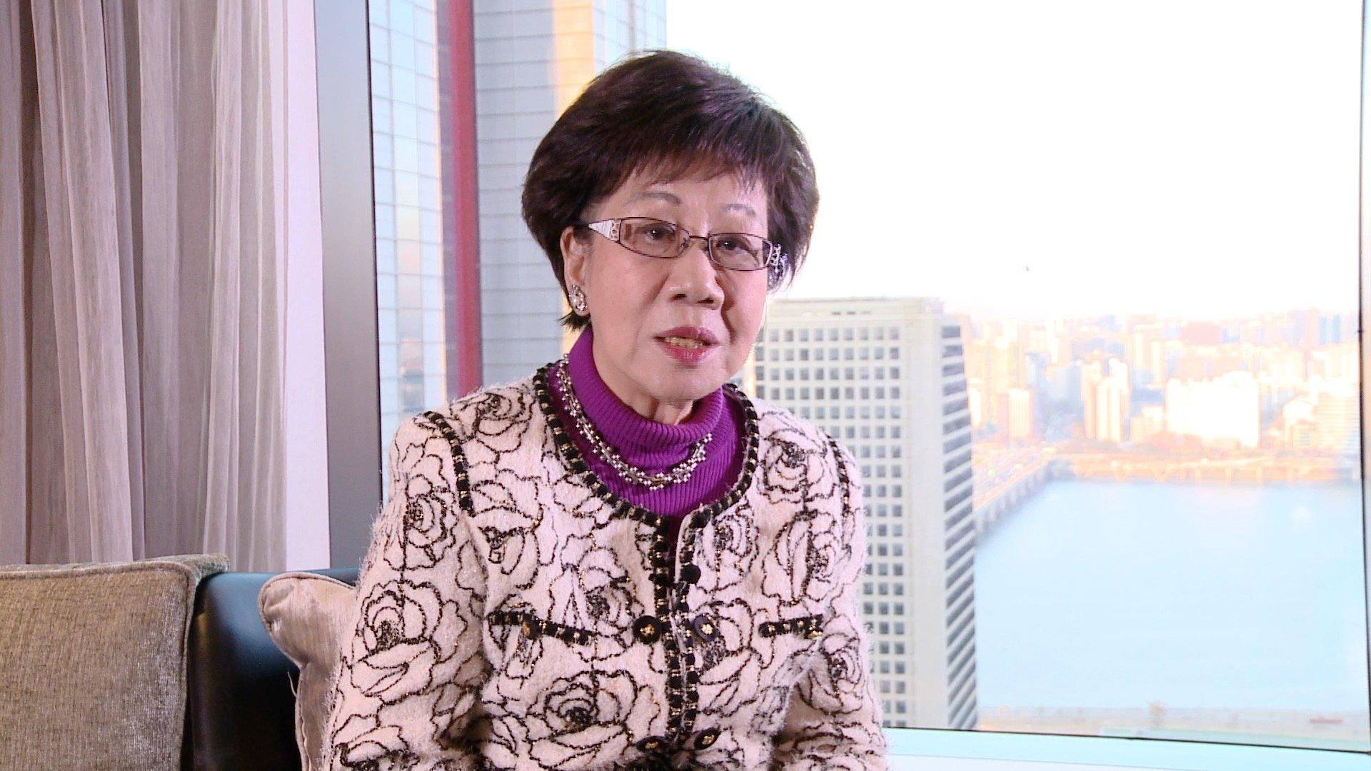 灣前副總統呂秀蓮接受採訪。(新唐人截圖)
