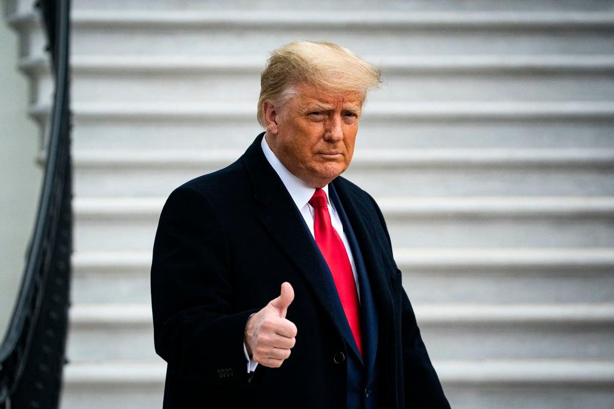 2020年12月12日,美國總統特朗普在白宮。(Al Drago/Getty Images)