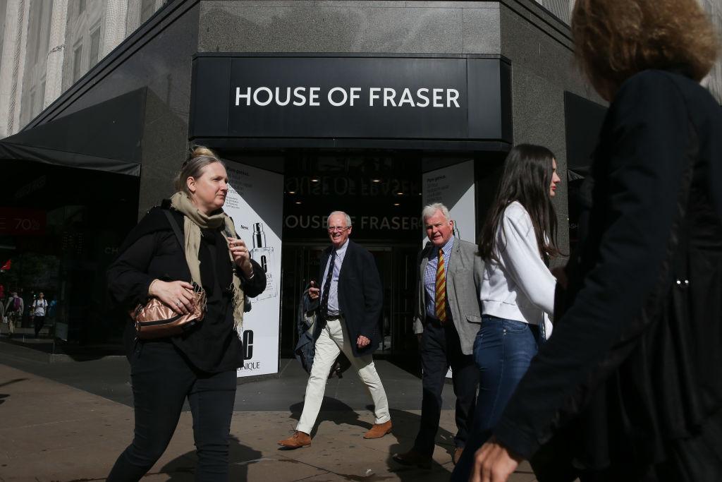 袁亞非2014年收購了英國百年連鎖老店福來德百貨,2018年申請破產。(DANIEL LEAL-OLIVAS/AFP/Getty Images)