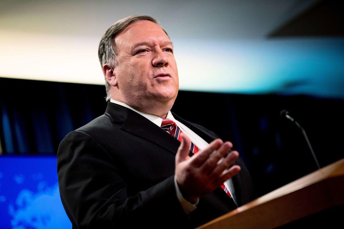 圖為美國國務卿蓬佩奧。(ANDREW HARNIK/POOL/AFP via Getty Images)