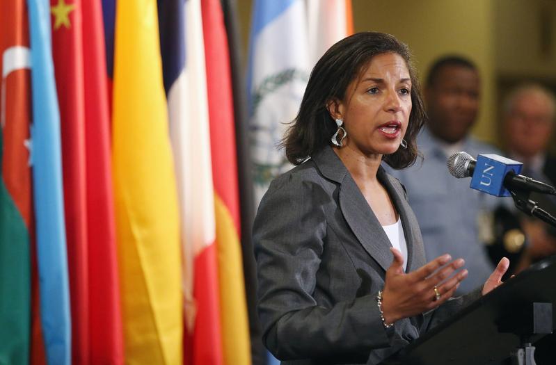 近日,美國前國家安全顧問蘇珊·賴斯(Susan Rice )在網絡上痛罵一名中共高級外交官「無恥」和「無知」,並希望快點「送他回國」。 (Mario Tama/Getty Images)