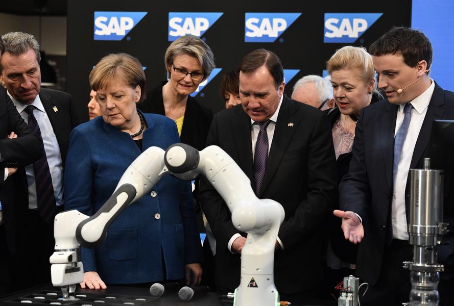 默克爾為漢諾威工業展揭幕 聚焦5G 人工智能