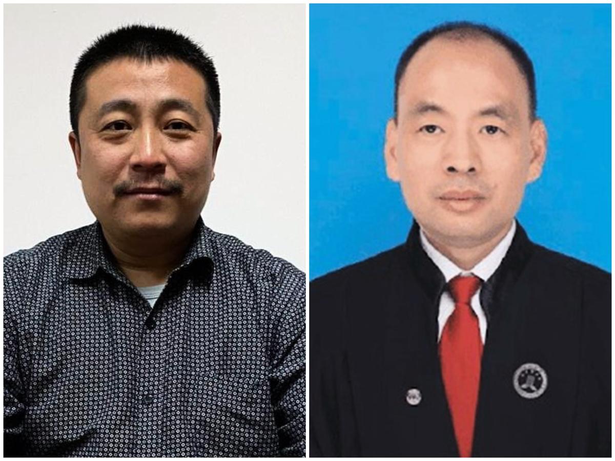 代理12名被送中港人案件的任全牛律師(左)和盧思位律師(右)面臨被吊銷律師執照。(受訪者提供/網絡圖合成)