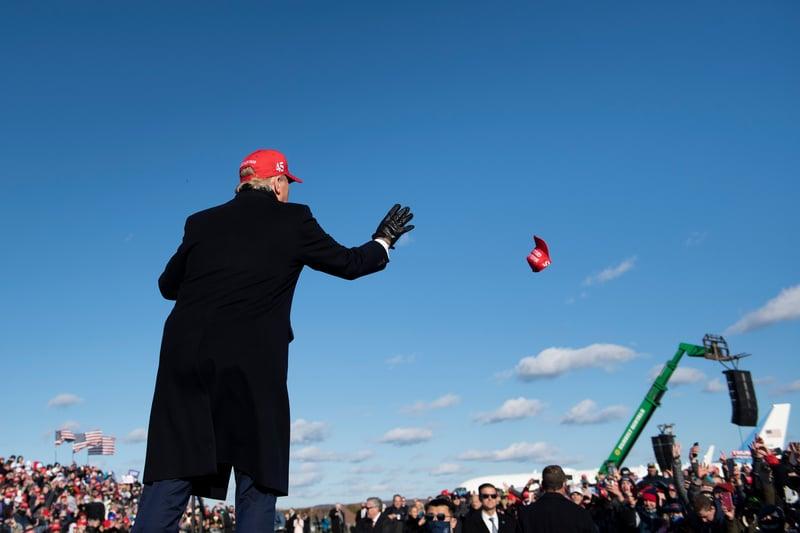 組圖:特朗普最後衝刺 一天四州五場集會