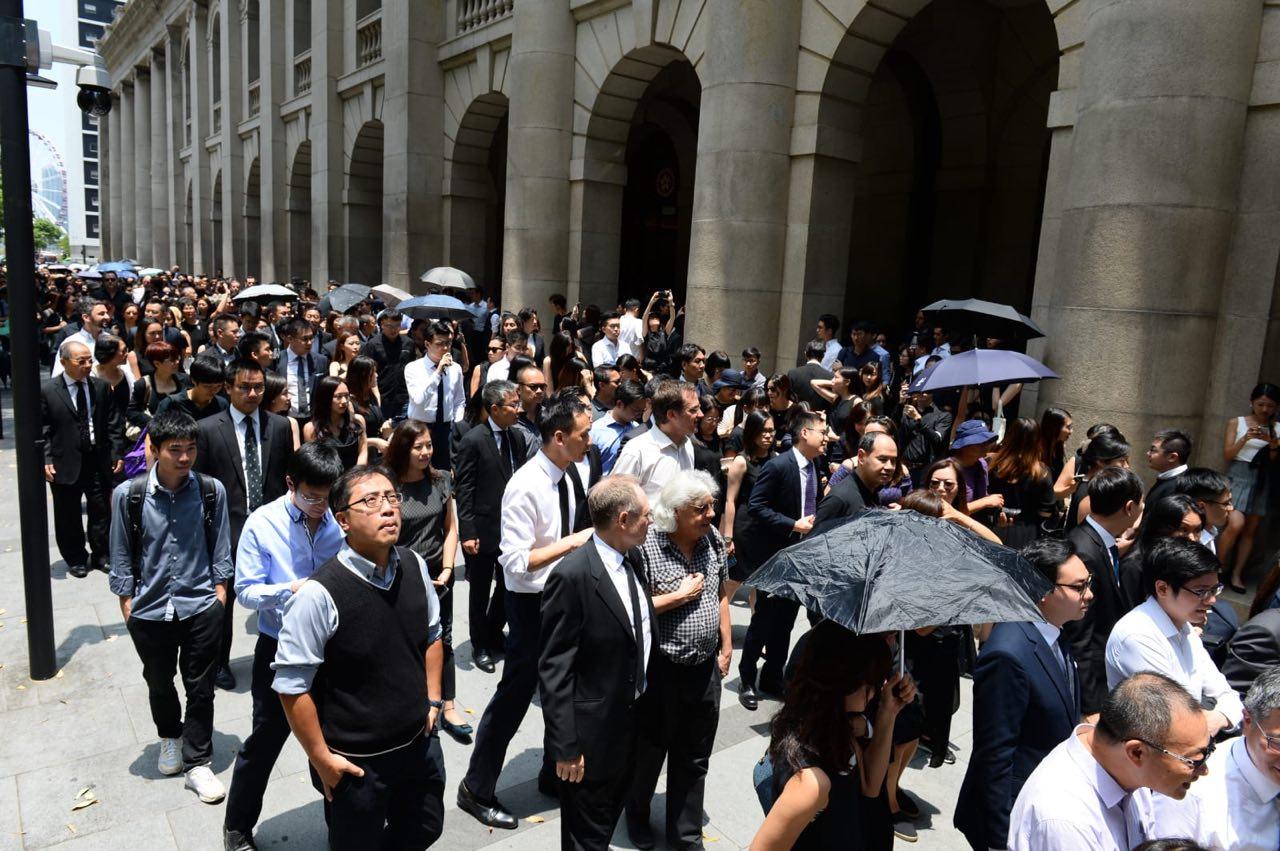 8月7日,香港法律界舉行黑衣遊行,反對送中條例。(宋碧龍/大紀元)