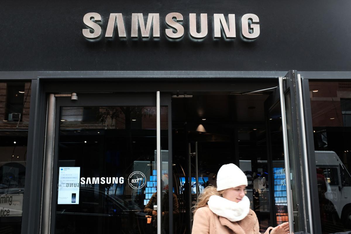南韓媒體預測,三星電子將從中受益,會是中美這波科技戰的贏家之一。 (Spencer Platt/Getty Images)