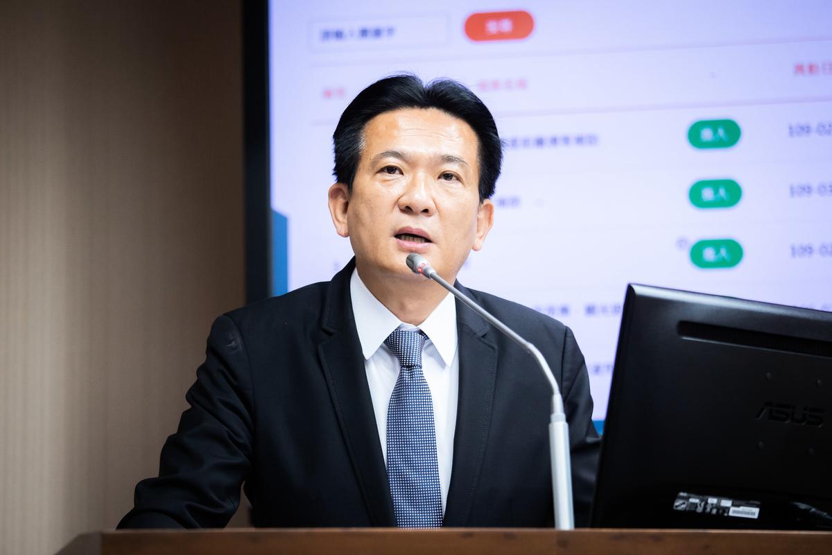 民進黨立委林俊憲。資料圖(陳柏州/大紀元)