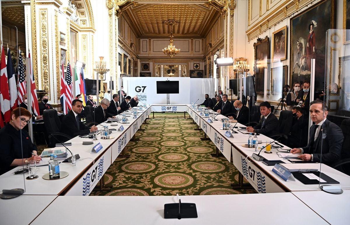 2021年5月5日,七國集團外長會議在倫敦舉行,這是兩年多來七國外長的首次面對面會談,會議同時呼籲採取緊急聯合行動,應對最緊迫的全球威脅。(BEN STANSALL/POOL/AFP via Getty Images)