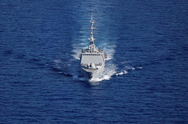 圖為一艘法國戰艦資料照。(Photo by THOMAS COEX/AFP via Getty Images)
