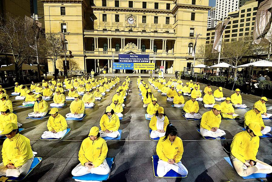 強權壓不垮良善 悉尼舉行7.20反迫害活動