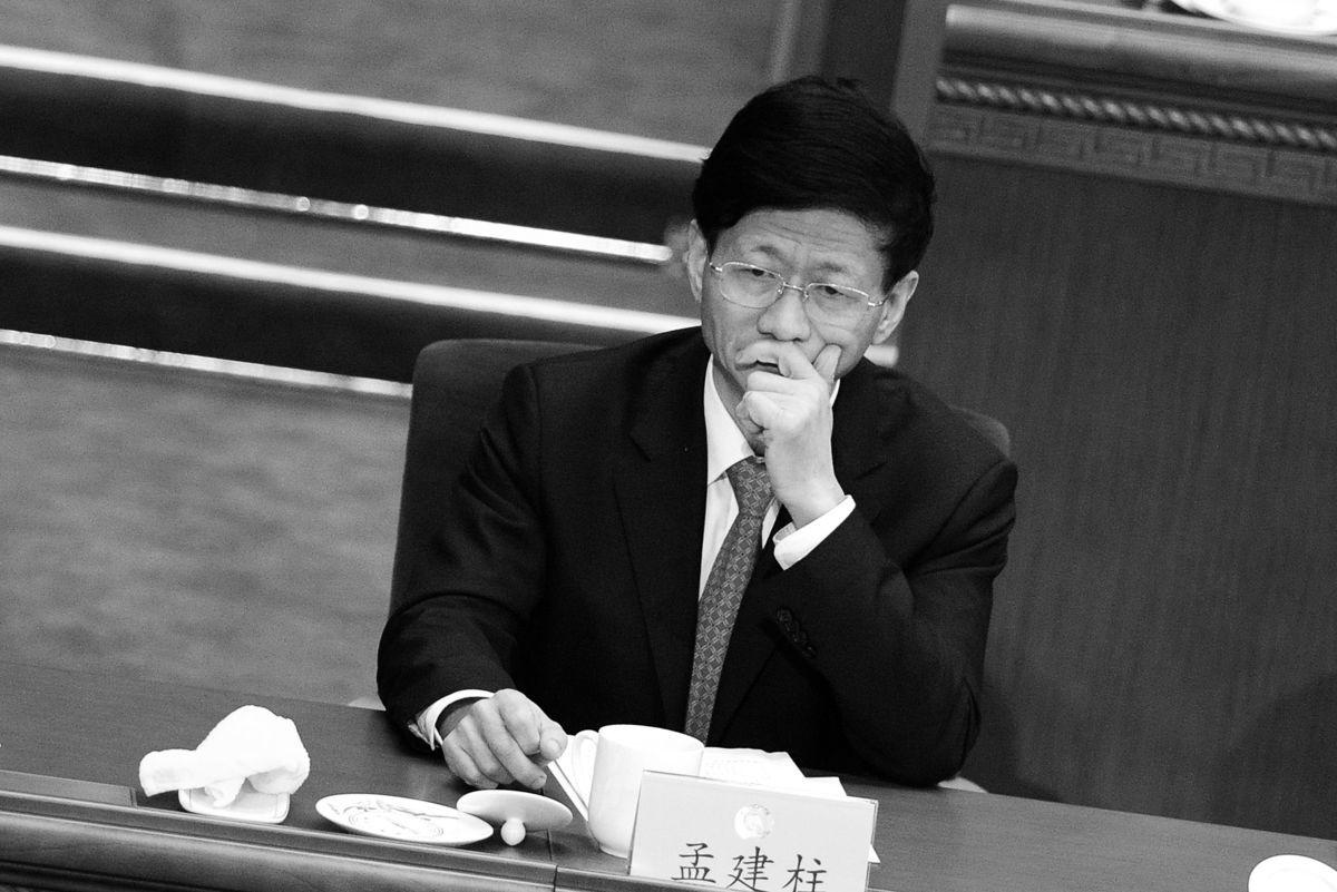 前中共中央政治局委員、政法委書記孟建柱負面消息不斷。圖為,2016年3月,孟建柱參加中共兩會。(WANG ZHAO/GettyImages)