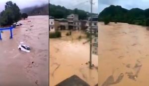 中國南方持續暴雨 烏江等流域或現超警洪水