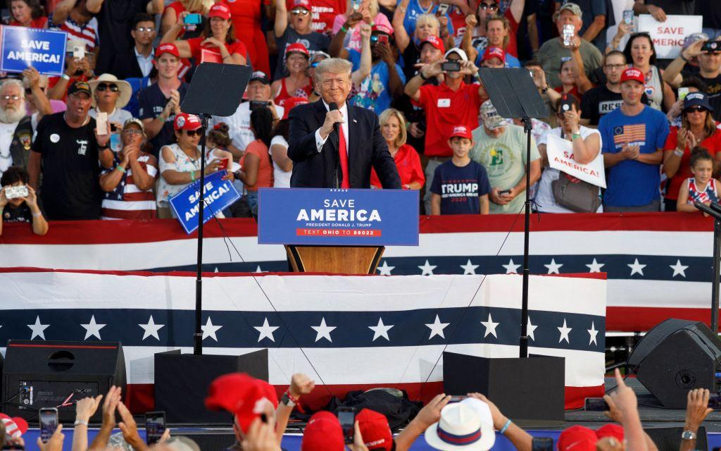 6月26日,美國前總統特朗普在俄亥俄州參加競選集會。(Photo by STEPHEN ZENNER/AFP via Getty Images)