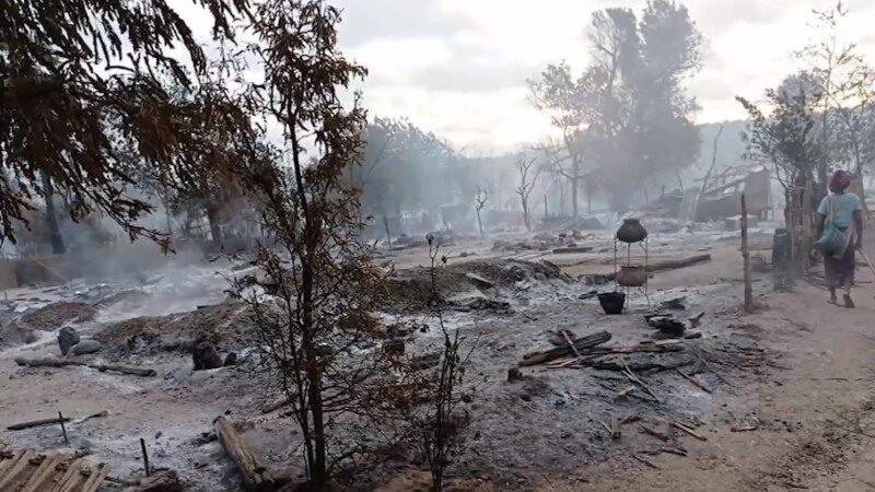 緬甸軍方縱火燒村 200民宅成灰燼2老人被燒死