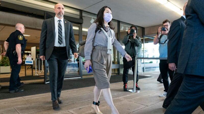 2020年9月28日,孟晚舟到法院開庭。(Rich Lam/Getty Images)