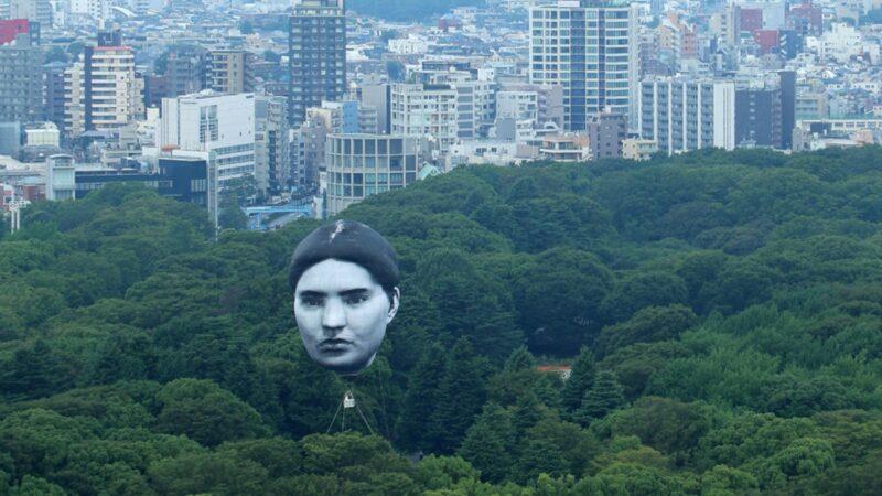 東京奧運臨近 賽場上空浮現巨型人臉