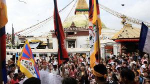 尼泊爾爆發抗議 反對中共干涉內政侵佔土地