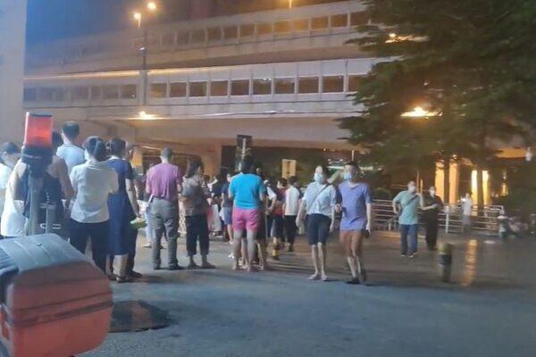 9月4日,廣州市通報新增1例本土無症狀感染者,越秀區連夜進行全員核酸檢測。(影片截圖)