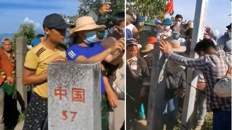 中共修邊境牆並通電防外逃 越南邊民強拆鐵絲網
