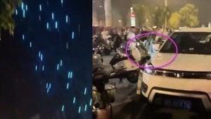 鄭州「十一」無人機表演 失控後紛紛墜落(影片)