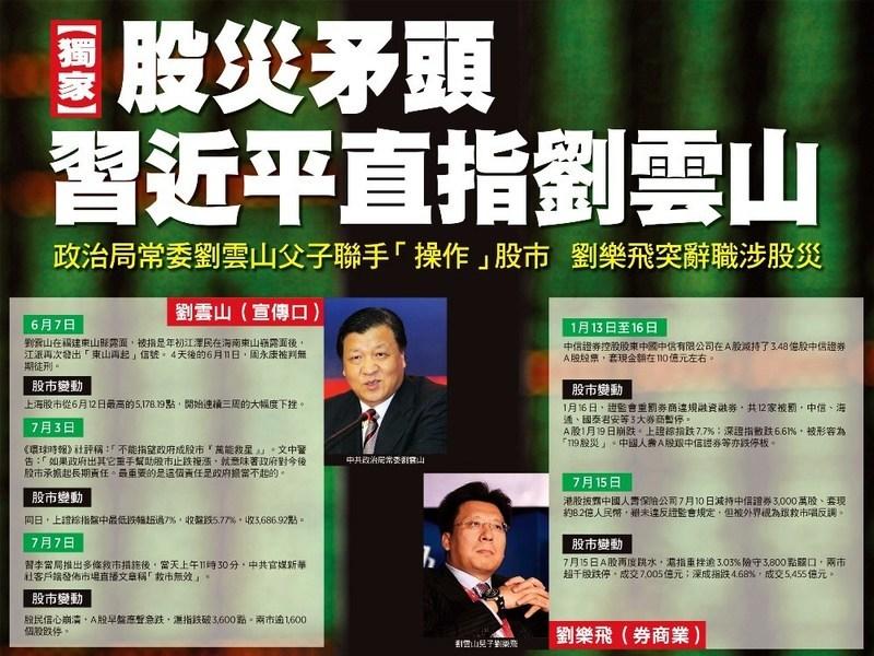 【獨家】股災矛頭 習近平直指劉雲山