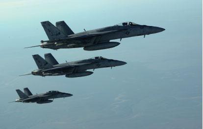 一名美國國防官員說,美軍今天空襲的目標是阿德納尼。(AFP)