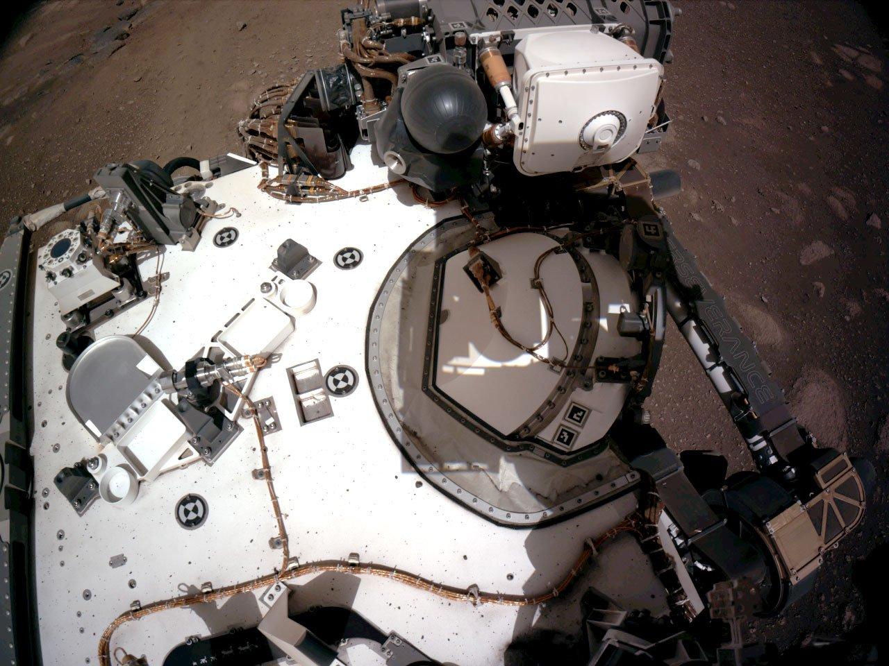 NASA公佈毅力號登陸火星時記錄下的第一段錄音。(NASA/JPL-Caltech)