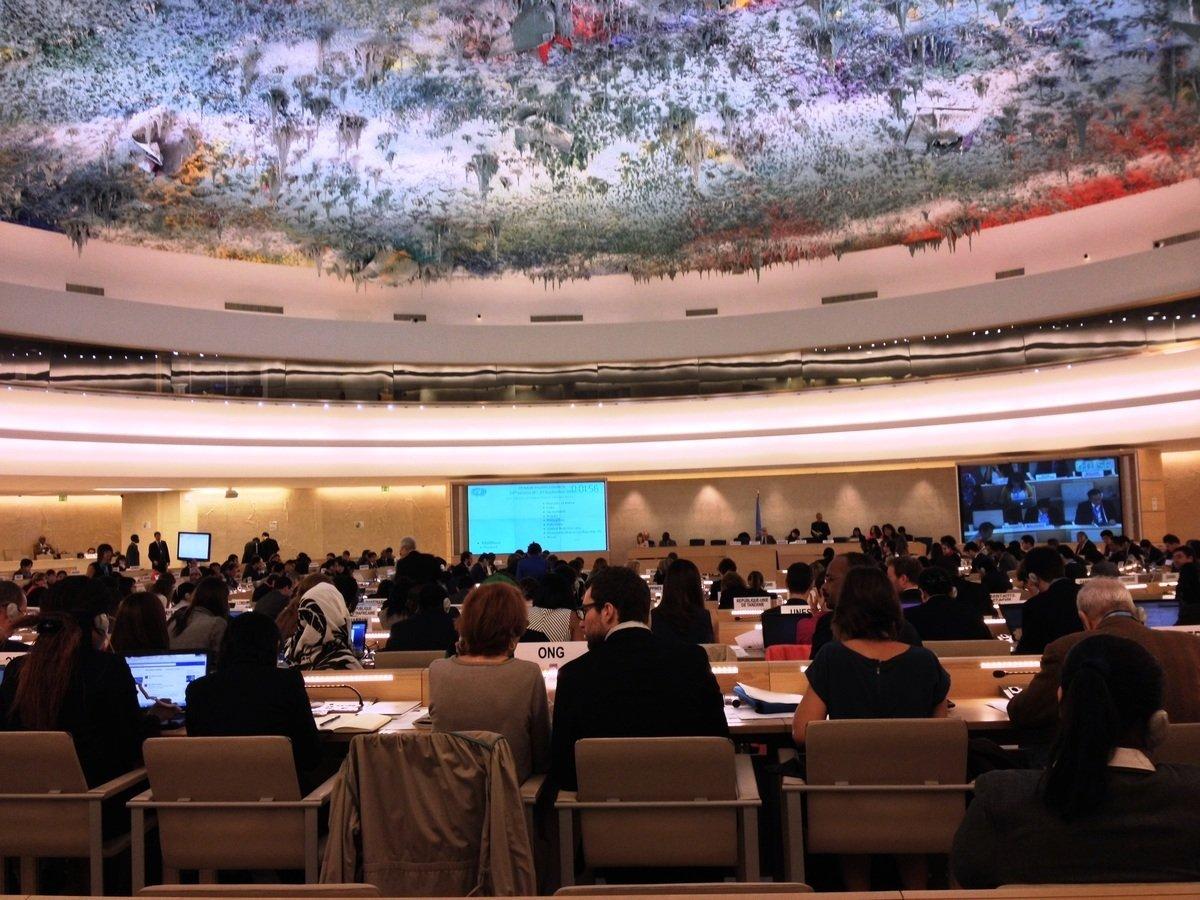 第二十四屆聯合國人權理事會大會於2013年9月19日至27日在日內瓦召開。(明慧網)
