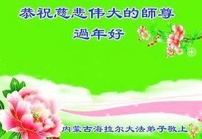 中國30省市法輪功學員共祝慈悲偉大的李洪志大師新年好!